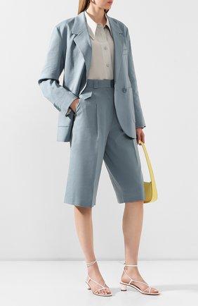 Женские шорты LOW CLASSIC голубого цвета, арт. L0W20SS_PT05BG   Фото 2