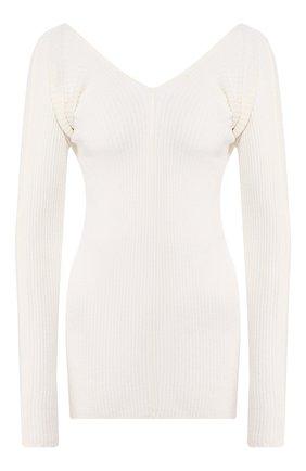 Женский льняной пуловер LOW CLASSIC белого цвета, арт. L0W20SS_KN08WH | Фото 1