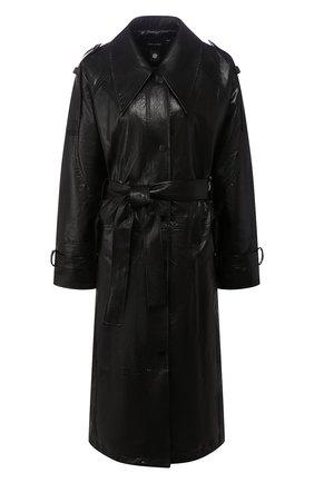 Женский тренч LOW CLASSIC черного цвета, арт. L0W20SS_CT01BK   Фото 1