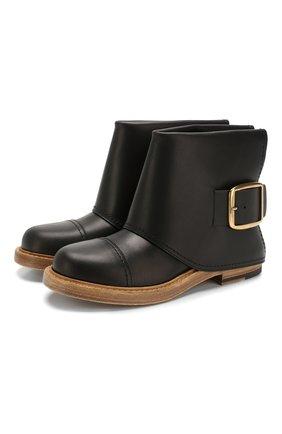 Женские кожаные ботинки ALEXANDER MCQUEEN черного цвета, арт. 621834/WHXZ9   Фото 1