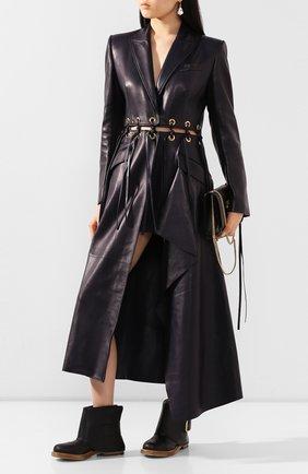 Женские кожаные ботинки ALEXANDER MCQUEEN черного цвета, арт. 621834/WHXZ9   Фото 2