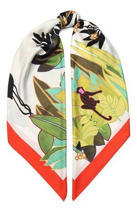 Женский шелковый платок valentino garavani VALENTINO разноцветного цвета, арт. TW0EB104/CJL | Фото 1