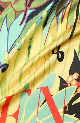Женский шелковый платок valentino garavani VALENTINO разноцветного цвета, арт. TW0EB104/CJL | Фото 2
