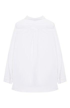 Детское хлопковая блузка ERMANNO SCERVINO белого цвета, арт. 46I CM05 P0P/4-8 | Фото 2