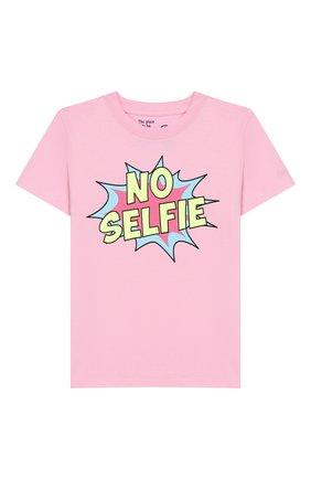 Детская хлопковая футболка MC2 SAINT BARTH розового цвета, арт. STBK ELLY/ELLY001 | Фото 1