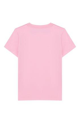 Детская хлопковая футболка MC2 SAINT BARTH розового цвета, арт. STBK ELLY/ELLY001 | Фото 2