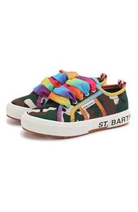Детские хлопковые кеды MC2 SAINT BARTH разноцветного цвета, арт. STBA B0ULEVARD/B0UL001/29-39   Фото 1