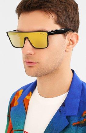 Мужские солнцезащитные очки TOM FORD черного цвета, арт. TF709 | Фото 2