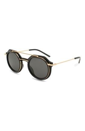 Мужские солнцезащитные очки DOLCE & GABBANA черного цвета, арт. 6136-501/87 | Фото 1