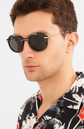 Мужские солнцезащитные очки DOLCE & GABBANA черного цвета, арт. 6136-501/87 | Фото 2