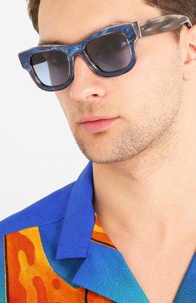 Мужские солнцезащитные очки DOLCE & GABBANA синего цвета, арт. 4379F-3263V1 | Фото 2