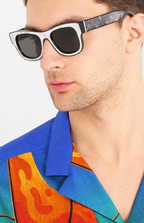 Мужские солнцезащитные очки DOLCE & GABBANA черного цвета, арт. 4379F-326487 | Фото 2