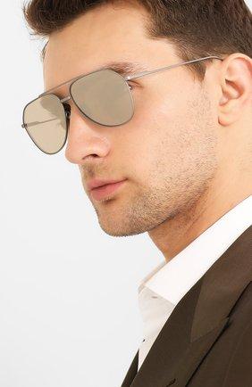 Мужские солнцезащитные очки DOLCE & GABBANA серого цвета, арт. 2166T-1159AB | Фото 2