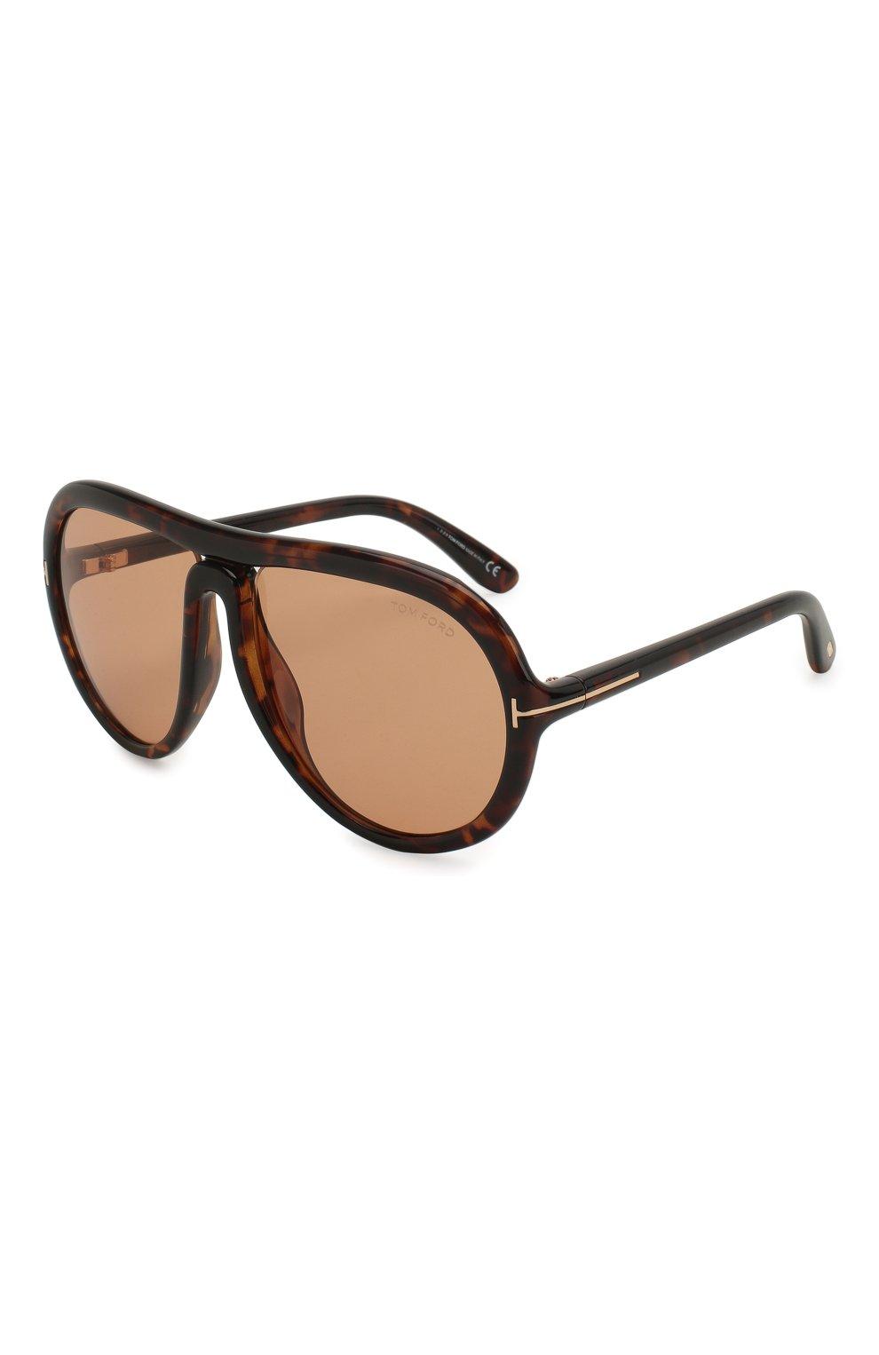 Мужские солнцезащитные очки TOM FORD коричневого цвета, арт. TF768 | Фото 1