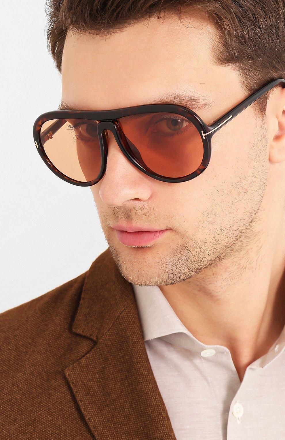 Мужские солнцезащитные очки TOM FORD коричневого цвета, арт. TF768 | Фото 2