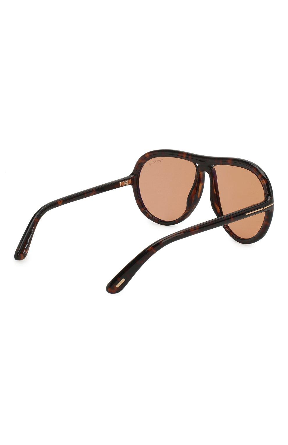 Мужские солнцезащитные очки TOM FORD коричневого цвета, арт. TF768 | Фото 3