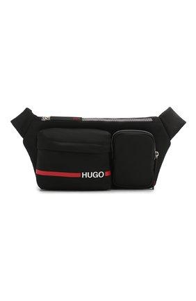 Мужская текстильная поясная сумка HUGO черного цвета, арт. 50431645 | Фото 1