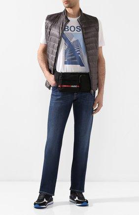 Мужская текстильная поясная сумка HUGO черного цвета, арт. 50431645 | Фото 2