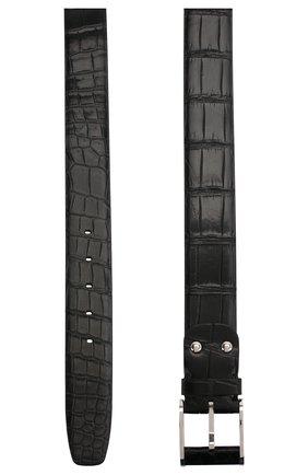 Мужской ремень из кожи крокодила ZILLI черного цвета, арт. MJL-CLAQE-01010/0819/CP0R/120 | Фото 2