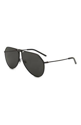 Мужские солнцезащитные очки DOLCE & GABBANA черного цвета, арт. 2248-110687 | Фото 1
