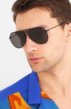 Мужские солнцезащитные очки DOLCE & GABBANA черного цвета, арт. 2248-110687 | Фото 2