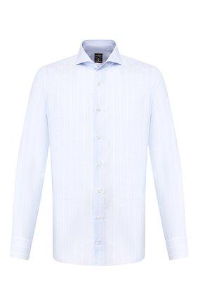 Мужская сорочка из смеси хлопка и льна VAN LAACK голубого цвета, арт. MES0-SF/151804 | Фото 1