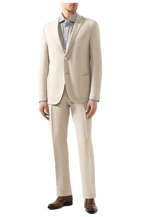Мужская хлопковая сорочка BRIONI хаки цвета, арт. RCL80Z/P905V | Фото 2