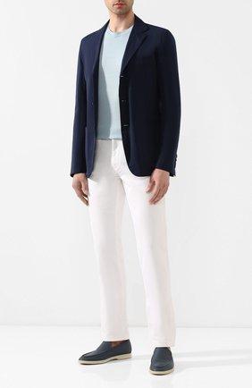 Мужской пиджак KNT темно-синего цвета, арт. UGS0106K06S41 | Фото 2