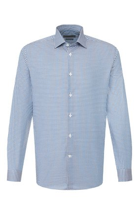 Мужская хлопковая сорочка CORNELIANI синего цвета, арт. 85P010-0111382/00 | Фото 1