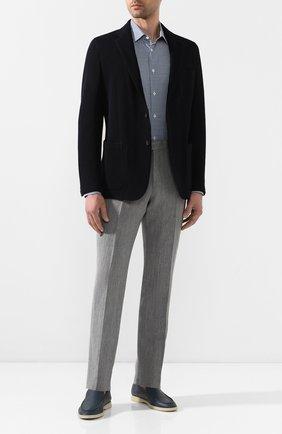 Мужская хлопковая сорочка CORNELIANI синего цвета, арт. 85P010-0111382/00 | Фото 2