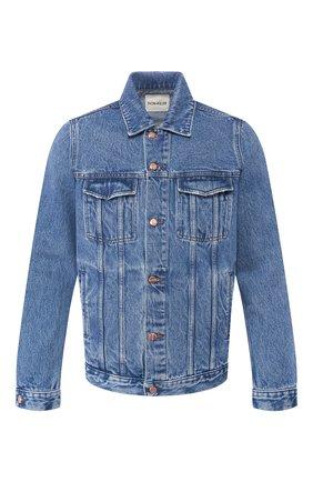 Мужская джинсовая куртка DON THE FULLER синего цвета, арт. DHS0/LI0NE/DTF/CLB   Фото 1