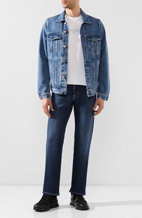 Мужская джинсовая куртка DON THE FULLER синего цвета, арт. DHS0/LI0NE/DTF/CLB   Фото 2