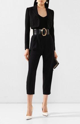 Женские брюки ALEXANDER MCQUEEN черного цвета, арт. 577572/QEAAA | Фото 2