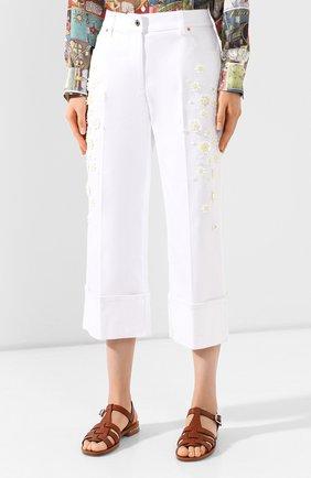 Женские джинсы VALENTINO белого цвета, арт. TB0DD10A5D4 | Фото 3