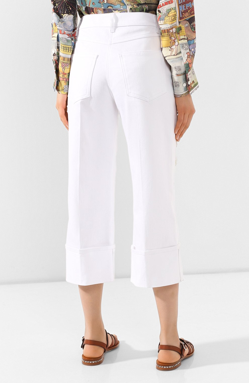 Женские джинсы VALENTINO белого цвета, арт. TB0DD10A5D4 | Фото 4
