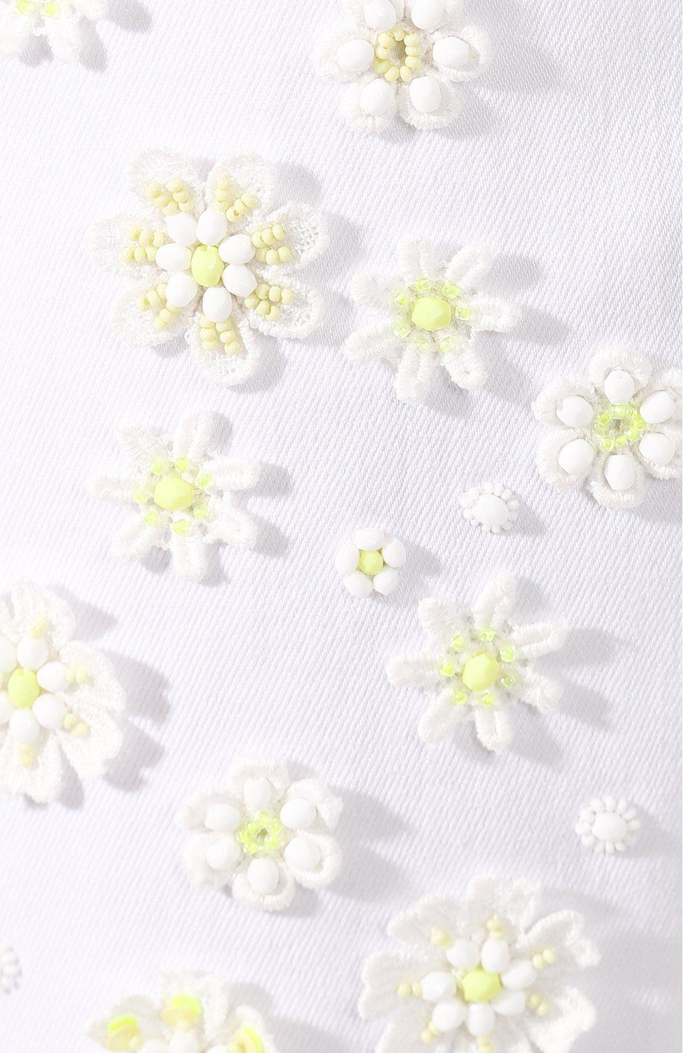 Женские джинсы VALENTINO белого цвета, арт. TB0DD10A5D4 | Фото 5