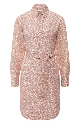 Женское шелковое платье BURBERRY розового цвета, арт. 8028961 | Фото 1