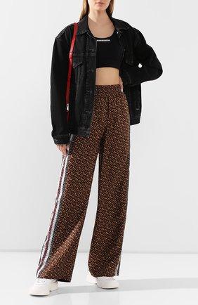 Женские шелковые брюки BURBERRY коричневого цвета, арт. 8018146 | Фото 2