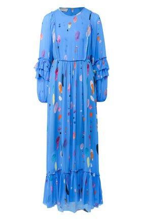 Женское платье из вискозы LILY FRANCO синего цвета, арт. 00035 | Фото 1