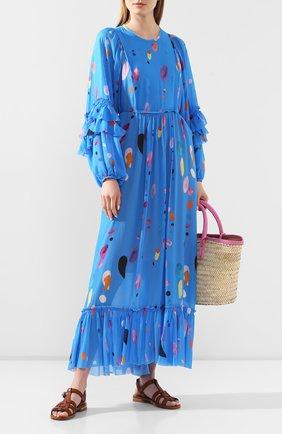 Женское платье из вискозы LILY FRANCO синего цвета, арт. 00035 | Фото 2
