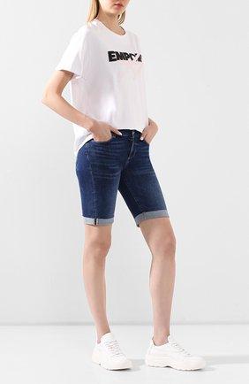 Женские джинсовые шорты PAIGE синего цвета, арт. 1798D84-7642 | Фото 2