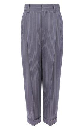 Женские шерстяные брюки CHLOÉ голубого цвета, арт. CHC20UPA18063 | Фото 1