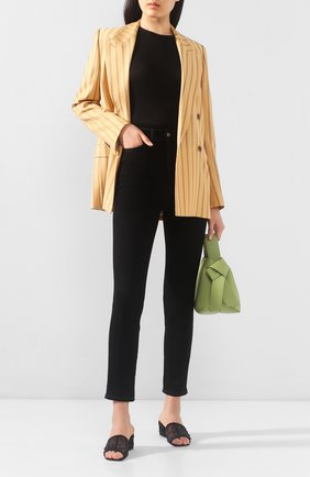 Женские текстильные мюли sergio SERGIO ROSSI черного цвета, арт. A90080-MAFM76 | Фото 2