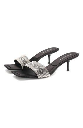 Женские кожаные мюли jessie ALEXANDER WANG черного цвета, арт. 30C120P092 | Фото 1