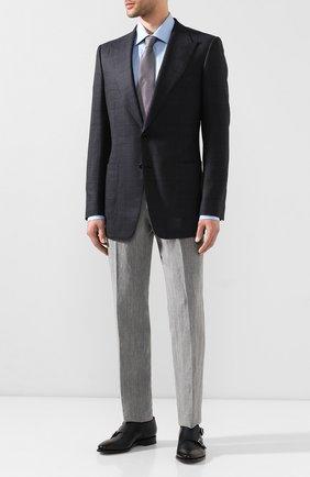 Мужской пиджак из смеси шерсти и шелка TOM FORD темно-синего цвета, арт. 0R5466/15HA40 | Фото 2
