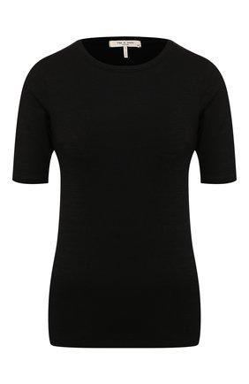 Женская пуловер RAG&BONE черного цвета, арт. WCC20ST045C745   Фото 1