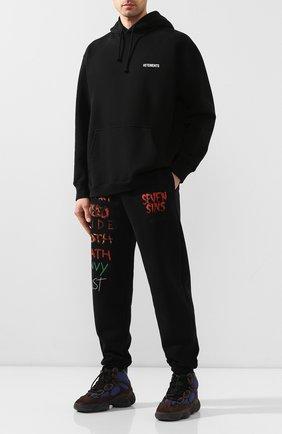 Мужские комбинированные кроссовки yeezy 500 high tyrian ADIDAS ORIGINALS коричневого цвета, арт. FY4269 | Фото 2