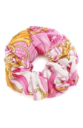 Женская резинка для волос VERSACE розового цвета, арт. IELA002/A234758 | Фото 1
