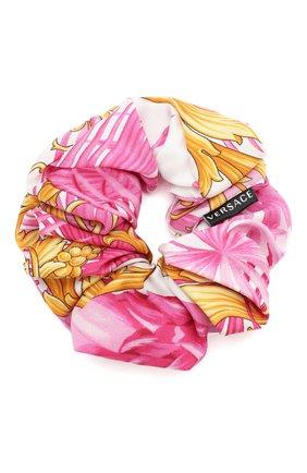 Женская резинка для волос VERSACE розового цвета, арт. IELA002/A234758 | Фото 2