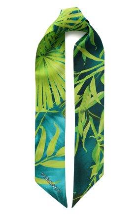 Мужские шелковый шарф VERSACE зеленого цвета, арт. IBA0005/A234781   Фото 1